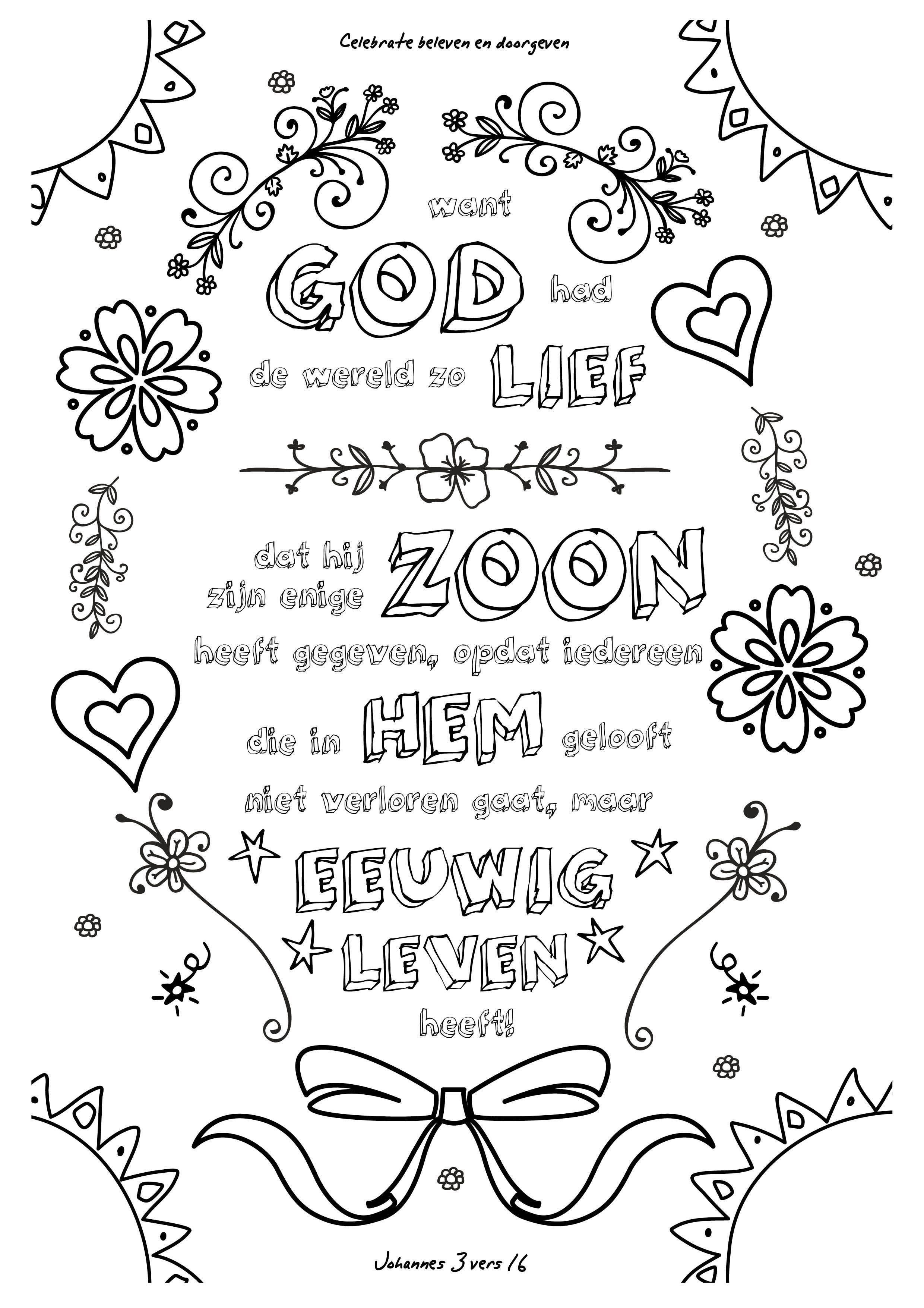 inspirerende christelijke kleurplaten voor volwassenen