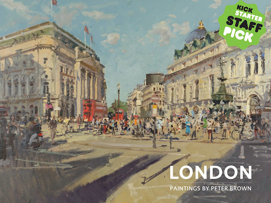 LONDON - Paintings by Peter Brown (Gift Book)