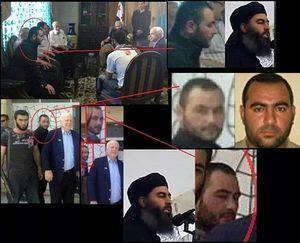 la photo du sénateur étasunien John McCain, en mission en Syrie pour le compte de la Maison Blanche, qui rencontre en mai 2013 Ibrahim al-Badri, le « calife » à la tête de l'EI.