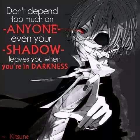 Dark Quotes Anime Amino