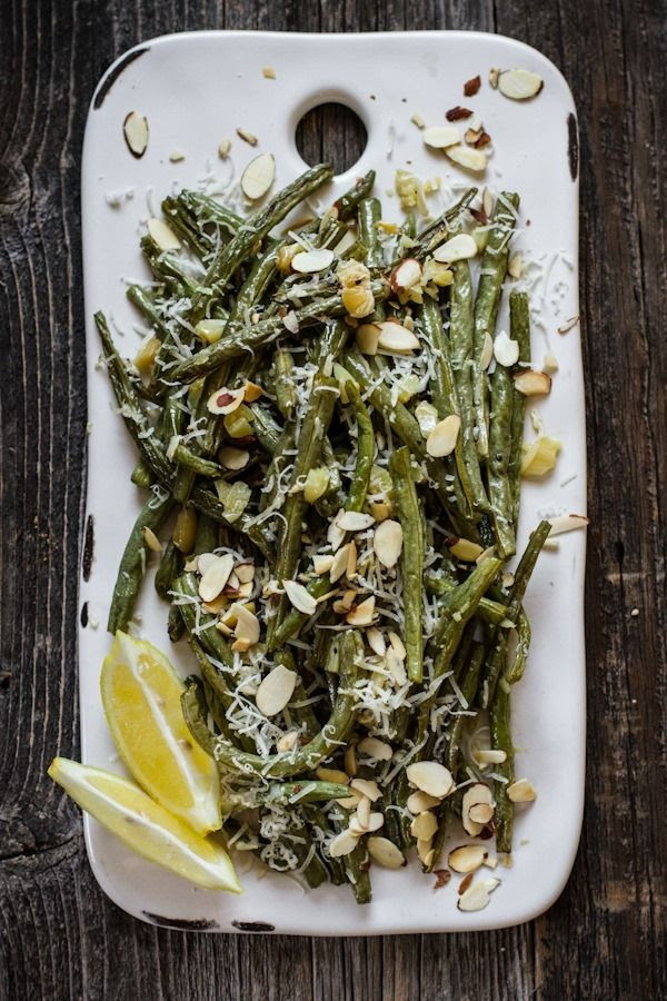 Roasted Garlic Green Beans with Lemon and Parmesan   edibleperspective.com