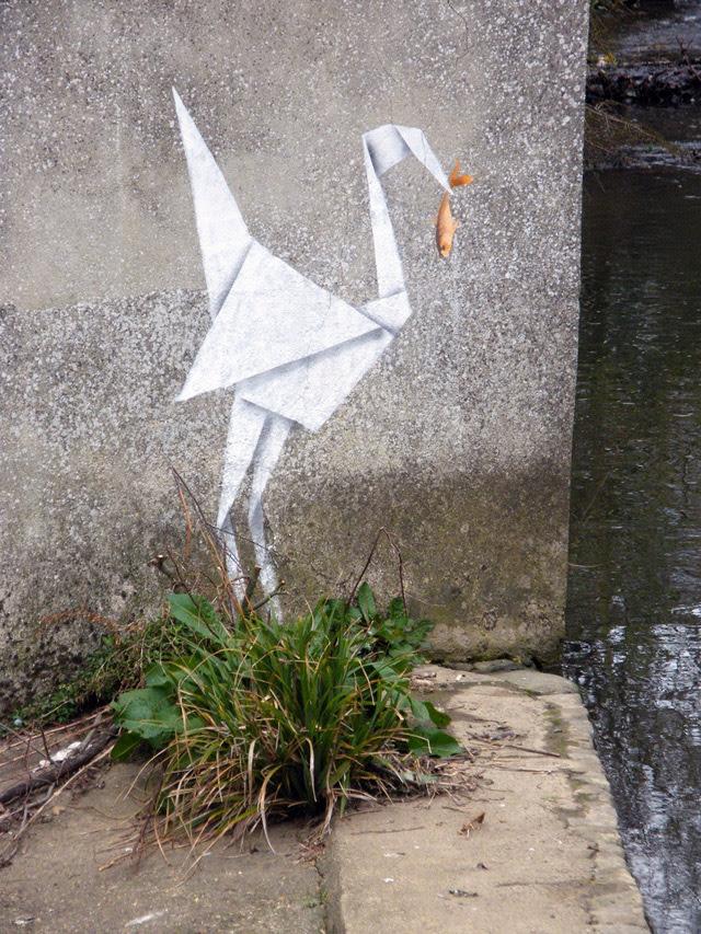 Banksy Does Origami street art origami birds