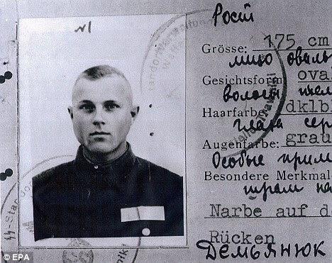 Demjanjuk's service card
