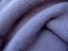 handknit hairy neutral jumper