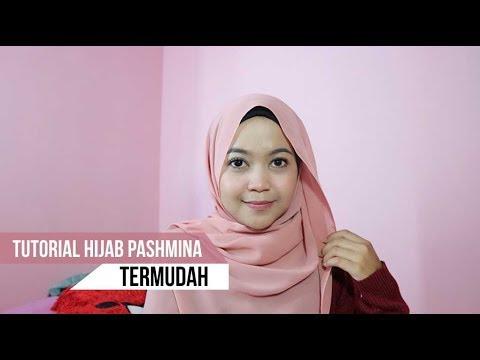 VIDEO : tutorial hijab pashmina untuk sehari-hari/ke kampus tersimpel -  ...