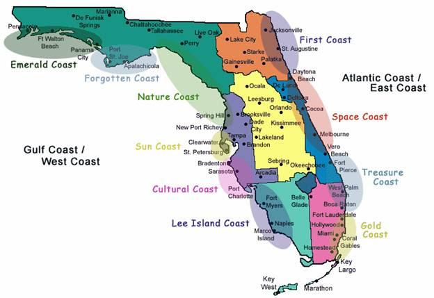 Map Of Coastal Florida | Florida Map 2018