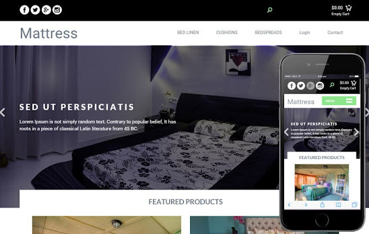 Mattress a Furniture Ecommerce Flat Bootstrap Responsive Web Template by w3layouts