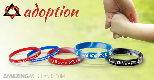 Adoption Wristbands Custom Made for Adoption Awareness
