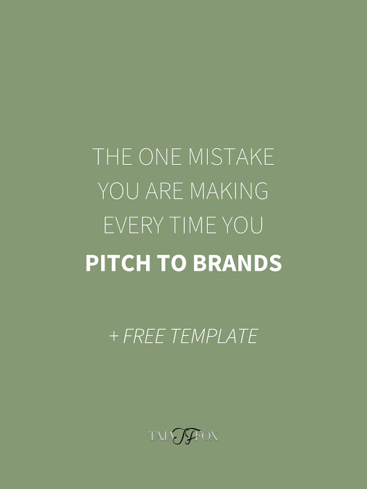 The One Mistake You Are Making Every Time You Pitch to Brands + Free Email Template
