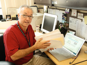 Dr. George Daley is one of the world's leading stem cell researchers. He holds a file of letters fro