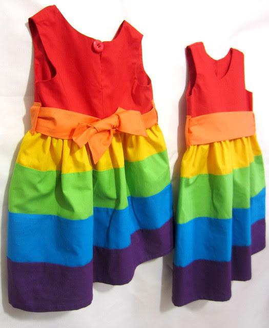 rainbow party frocks back