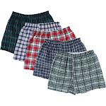 Fruit of the Loom Men's Woven Boxer Underwear (5 Pack) - Tartan Plaid