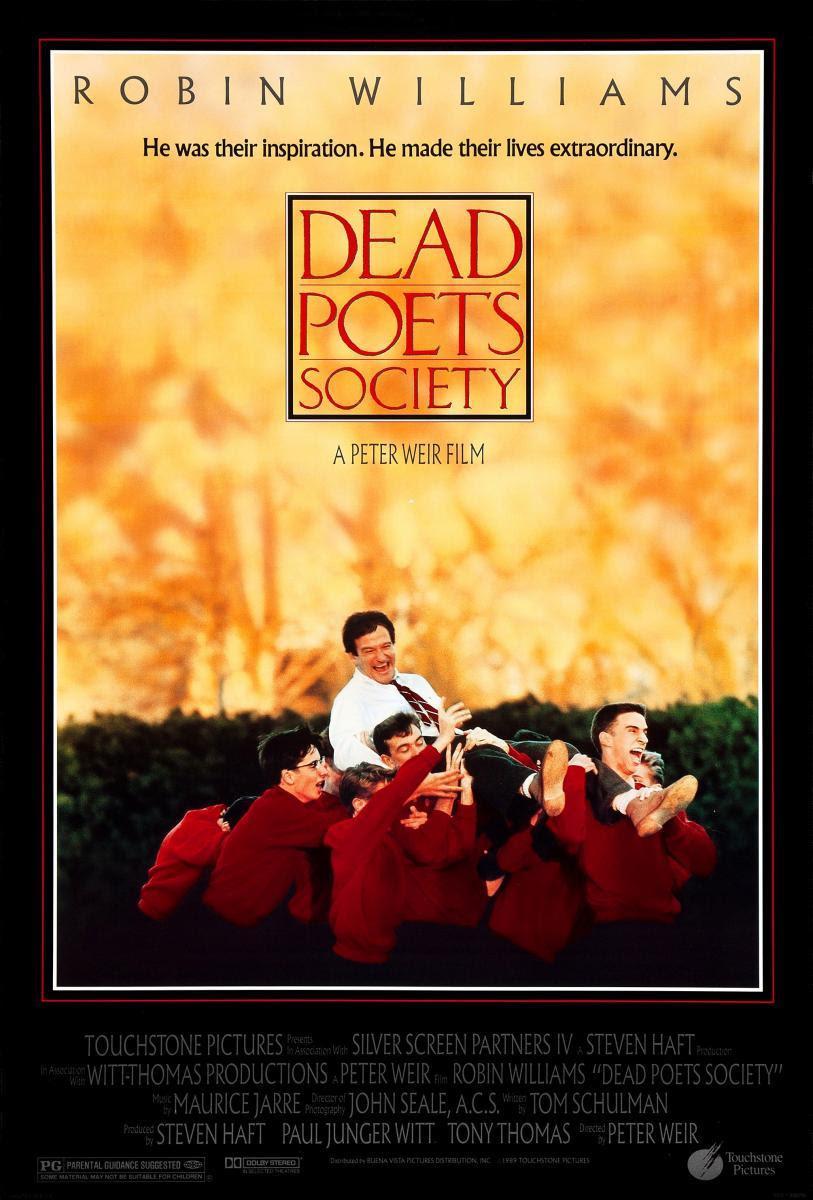 cine, película, cartelera, El club de los poetas muertos, Robin Willianms, blog de cine, solo yo, blog solo yo, NosVAmosAlCine, Drama, Enseñanza, literatura, Colegios, Dead Poets Society,