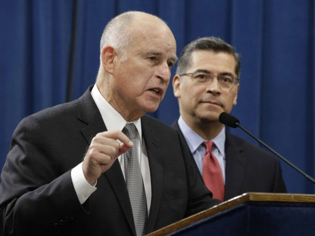 Jerry Brown and Xavier Becerra (Rich Pedroncelli / Associated Press)