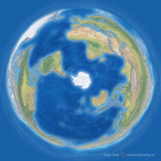 The Antarctic Projection: a Penguin's World Map - 3Develop beeldblog / image blog