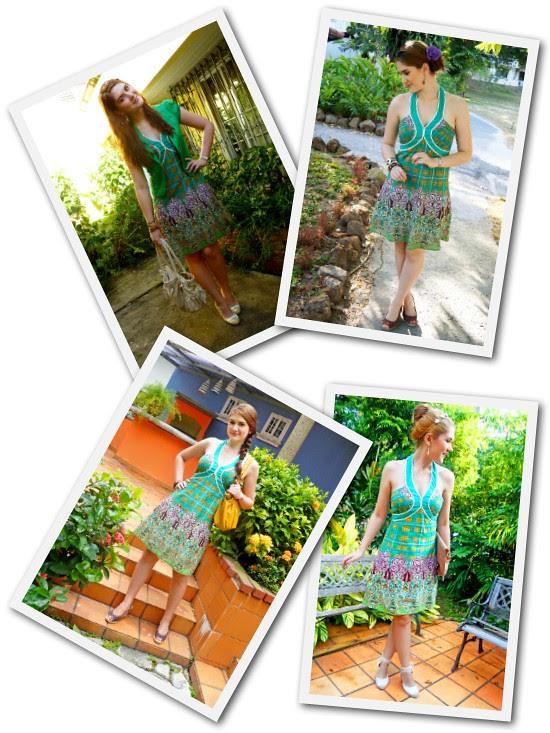 Green dress Remix by The Joy of Fashion