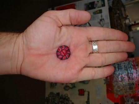 Geek Tattoo On Palm