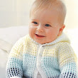 Baby's gorgeous Hooded Cardigan..# free #knitting pattern link here