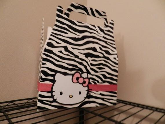 Zebra print hello kitty box