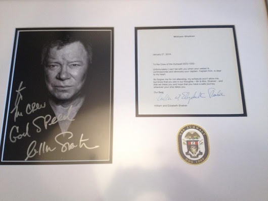 The US Navy's Real-Life Captain Kirk Got An Awesome Letter From William Shatner