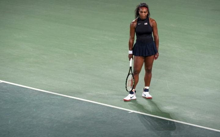 Serena Williams looked out of sorts during the clash