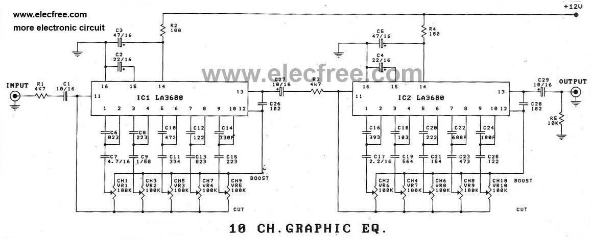Wiring    Machine  10 Band Equalizer Circuit    Diagram