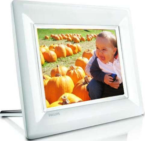 Philips 8ff3fpw27 Lcd Photo Frame 8 Color Display Built In