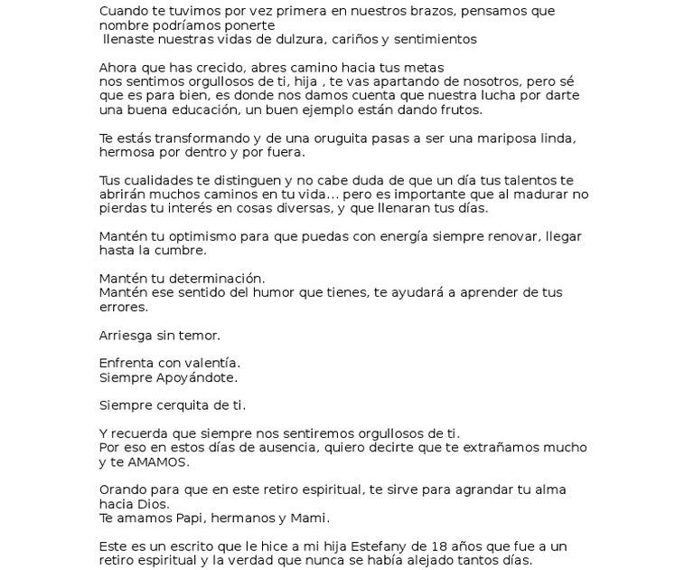 Carta Amigo Retiro Espiritual Best Quotes B