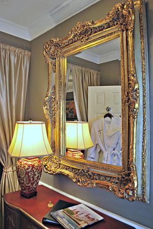 Mirror in the entryway