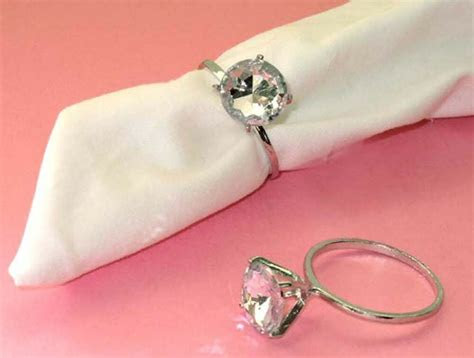 diamond napkin rings bridal shower wedding party