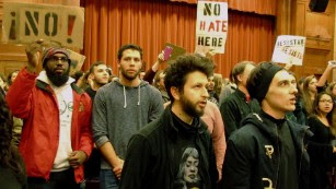 All hell broke loose at student protest -- and that's not OK