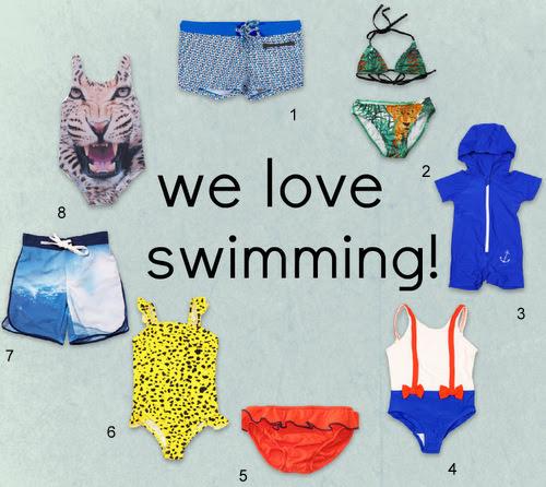 We love swimming