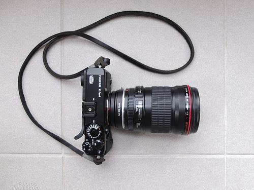 Fuji X-Pro 1 with EF 135mm f2 L