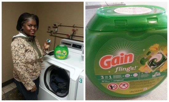 Gain flings laundry detergent