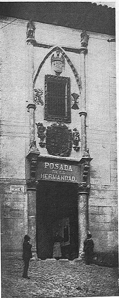 Posada de la Hermandad hacia 1928. Fotografía de Narciso Clavería publicada en junio de ese año en la Revista Toledo