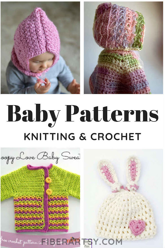 Free Crochet Patterns for Baby (Knitting, too) FiberArtsy.com