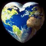 Tierra con forma de corazon