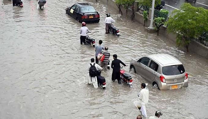 کراچی میں شدید بارش، اب تک کی ریکارڈ کی گئی مقدار