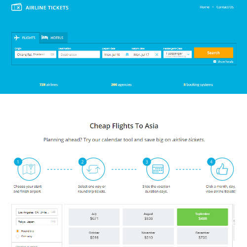 Airlinetickets.asia Domain Name And Website For Sale