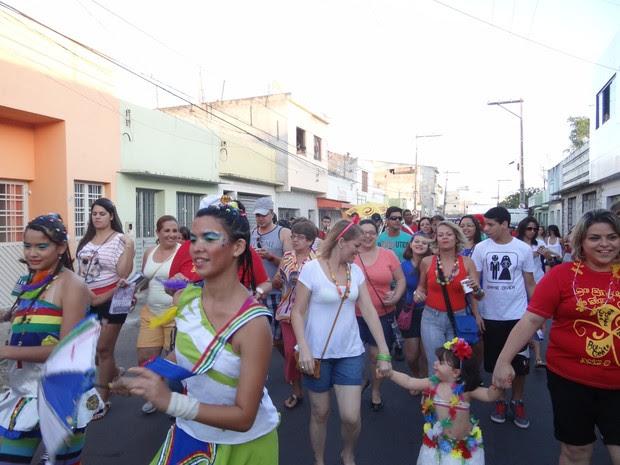 Organização estima que mais de mil pessoas participam do bloco. (Foto: Divulgação/ Vaca Profana)