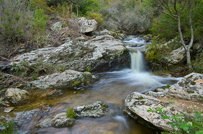 A little waterfall in Provence hills