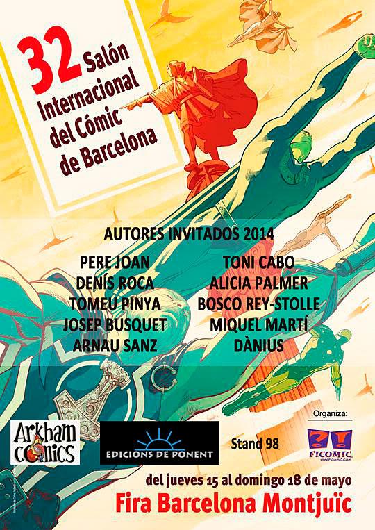 Autores invitados al Saló del Còmic de Barcelona 2014 | Edicions de Ponent & Arkham Cómics