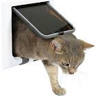 Trixie Pet 4-Way Cat DOOR, White