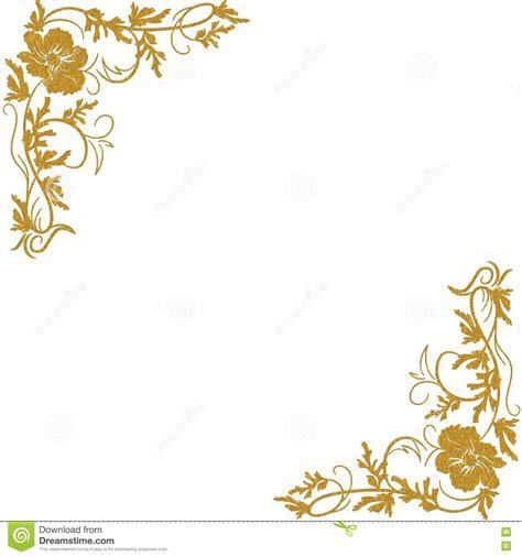 Cantos florais do ouro ilustração stock. Ilustração de