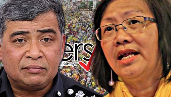 Maria Chin, IGP, Khalid Abu Bakar, Bersih 5, Bersih 2.0