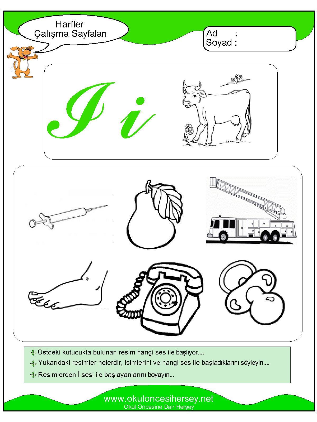 I Sesi çalışma Sayfaları