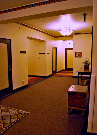 The third floor elevator area