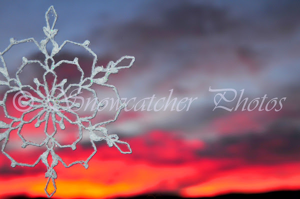 Snowflake Sunset