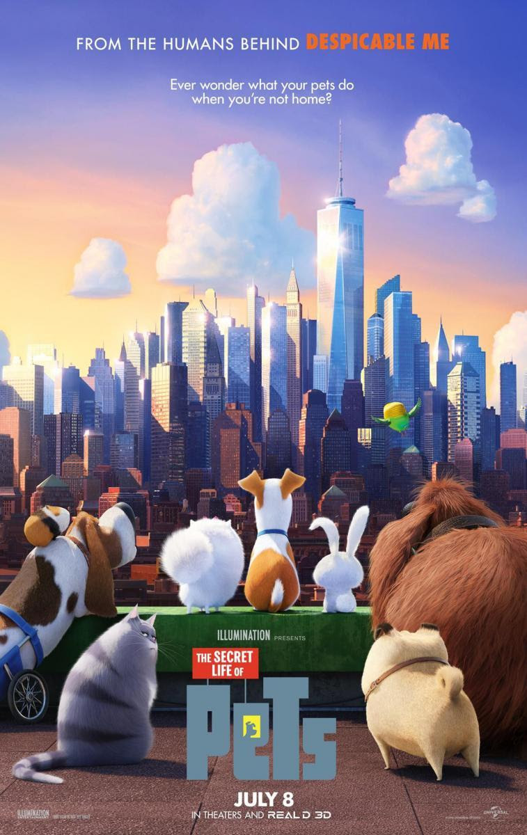 animación, comedia, animales, 3D, animation, The Secret life of pets, Mascotas, cine, película, cartelera, blog de cine, solo yo, blog solo yo, blogger alicante, autocine,