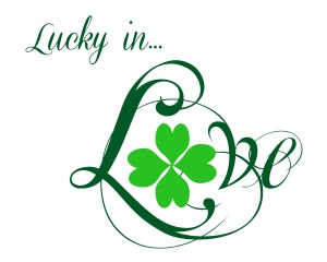 St Patty Day Lucky in Love White
